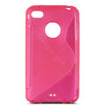 s-mak translucent double color cases covers for iPhone 5G - Red