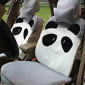 Winter Cute Panda Auto Seat Cushion Warm Plush Car Seat Covers - Gray