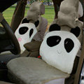 Winter Cute Panda Auto Seat Cushion Warm Plush Car Seat Covers - Green