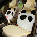 Winter Cute Panda Auto Seat Cushion Warm Plush Car Seat Covers - Yellow