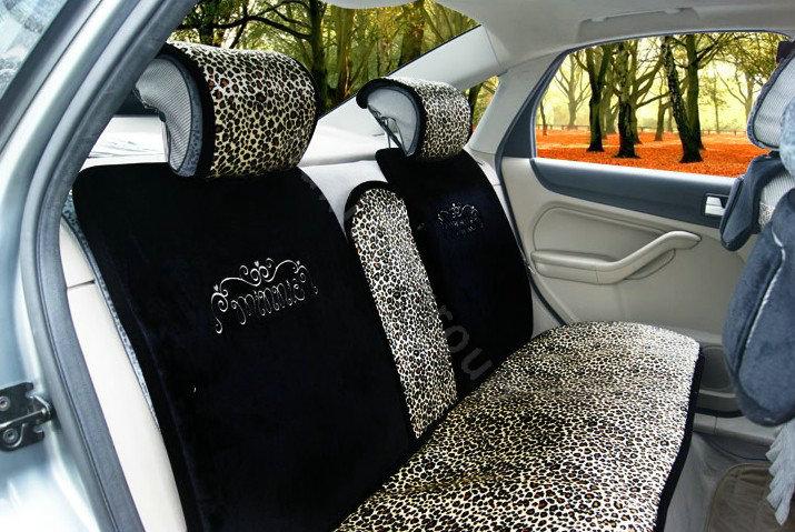 buy wholesale winter disney car seat cushion warm plush leopard grain auto seat covers black. Black Bedroom Furniture Sets. Home Design Ideas