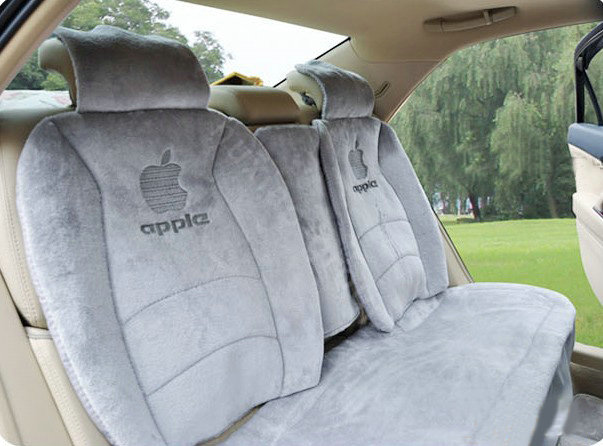buy wholesale winter fleece auto seat covers warm plush pads apple car seat cushion gray from. Black Bedroom Furniture Sets. Home Design Ideas