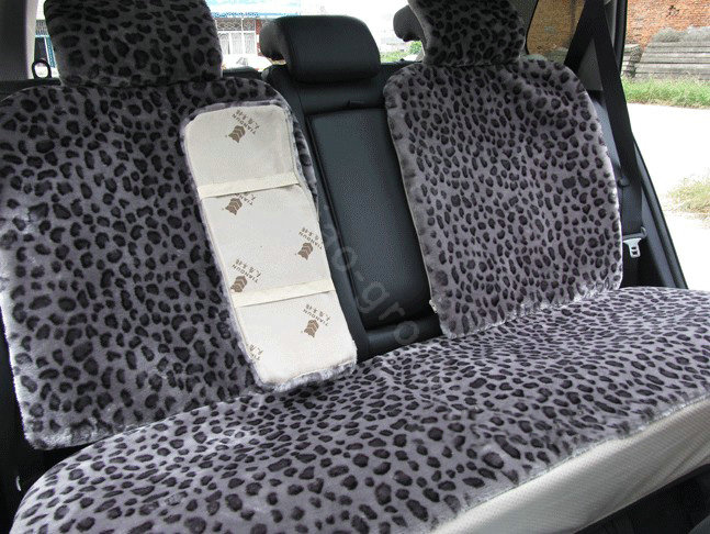 buy wholesale oulilai hello kitty leopard car front rear seat covers plush universal 19pcs. Black Bedroom Furniture Sets. Home Design Ideas