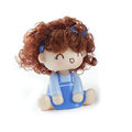 Car decoration accessories ornaments dimensional Moss shook his head doll - Blue girl