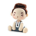 Car decoration accessories ornaments dimensional Moss shook his head doll - Gray boy