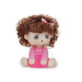 Car decoration accessories ornaments dimensional Moss shook his head doll - Pink girl