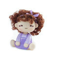 Car decoration accessories ornaments dimensional Moss shook his head doll - Purple girl