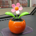 Flip Flap Solar apple Flower solar swinging flower solar toy gift car accessories - Orange
