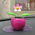 Flip Flap Solar apple Flower solar swinging flower solar toy gift car accessories - Rose