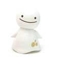 Cute Shake head doll Solar Smiling angel shook his head doll Car decoration - White