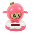 Shake his head doll Solar Face Change Doll Solar Doll Car decoration - Pink