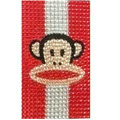 Bling Mouth monkey crystal cases covers for your mobile phone model - Red