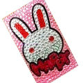 Happy Rabbit bling crystal cases covers for your mobile phone model - Pink