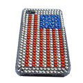 American flag bling crystal Hard Cases Covers for iPhone 4G - Red