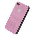 Ultrathin Stamping Hard Back Cases Covers for iPhone 4G - Pink