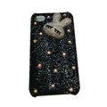 Bling cover Hello Kitty diamond crystal cases for iPhone 4G - Black