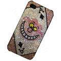 Bling covers A diamond crystal cases for iPhone 4G - Pink