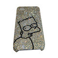 Bling covers Angry Birds diamond crystal cases for iPhone 4G - White