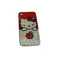 Bling covers Apple Hello Kitty diamond crystal cases for iPhone 4G - Red