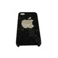 Bling covers Apple diamond crystal cases for iPhone 4G - Black