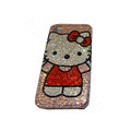 Bling covers Big Hello Kitty diamond crystal cases for iPhone 4G - Pink