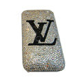 Bling covers Black LV diamond crystal cases for iPhone 3G - White