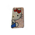 Bling covers Blue Hello Kitty diamond crystal cases for iPhone 4G - Pink