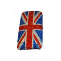 Bling covers Britain Flag diamond crystal cases for iPhone 3G - Red