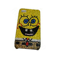 Bling covers Cartoon diamond crystal cases for iPhone 4G - Yellow
