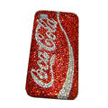 Bling covers Coca-Cola diamond crystal cases for iPhone 4G - Red