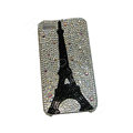 Bling covers Eiffel Tower diamond crystal cases for iPhone 4G - Black