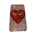 Bling covers Eye diamond crystal cases for iPhone 4G - Pink