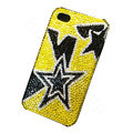 Bling covers Five Star diamond crystal cases for iPhone 4G - Black