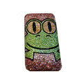 Bling covers Frog diamond crystal cases for iPhone 3G - Rose