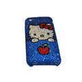 Bling covers Hello Kitty diamond crystal cases for iPhone 3G - Blue