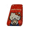 Bling covers Hello Kitty diamond crystal cases for iPhone 3G - Red