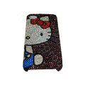 Bling covers Hello Kitty diamond crystal cases for iPhone 4G - Purple