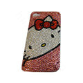 Bling covers White Hello Kitty diamond crystal cases for iPhone 4G - Pink