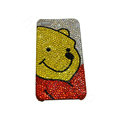 Bling covers Winnie the Pooh diamond crystal cases for iPhone 4G - Red