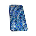 Bling covers Zebra2 diamond crystal cases for iPhone 4G - Blue