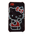Bling covers Black Hello Kitty diamond crystal cases for iPhone 4G - Black