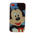 Bling covers Mickey Mouse diamond crystal cases for iPhone 4G - Black