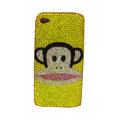 Bling covers Paul Frank Julius diamond crystal cases for iPhone 4G - Yellow