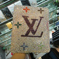 Luxry Bling covers LV diamond crystal cases for iPad 2 / The New iPad - White