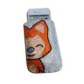 Luxury Bling Holster covers Ali Cat diamond crystal cases for iPhone 4G - Yellow