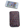Luxury Bling Holster covers All Point diamond crystal cases for iPhone 4G - Black