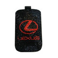 Luxury Bling Holster covers LEXUS diamond crystal cases for iPhone 4G - Black