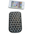 Luxury Bling Holster covers Leopard Grain diamond crystal cases for iPhone 4G - Black