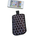Luxury Bling Holster covers Leopard Grain diamond crystal cases for iPhone 4G - Pink