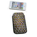 Luxury Bling Holster covers Leopard Grain diamond crystal cases for iPhone 4G - Yellow